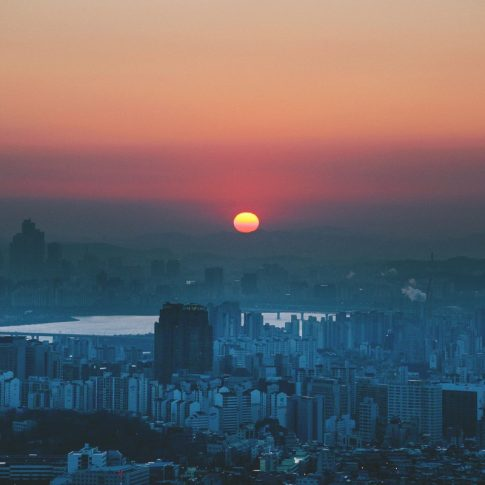 Coucher de soleil - Séoul - Corée du Sud