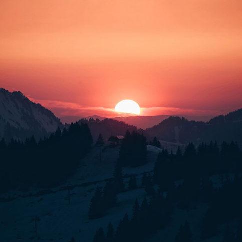 Coucher de soleil à Avoriaz