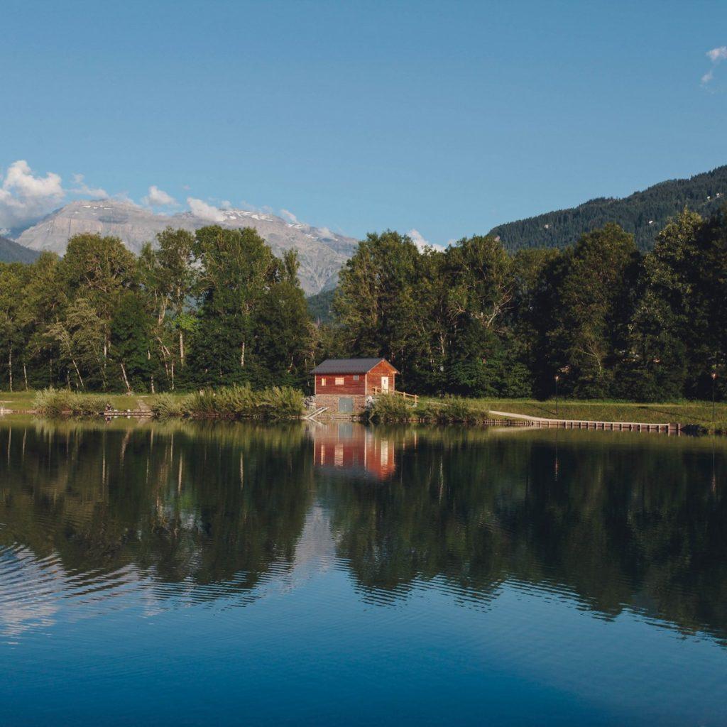 cabane - lac bleu