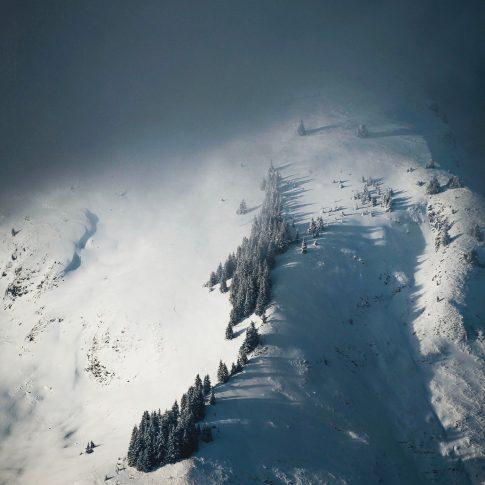 montagnes enneigées à Avoriaz