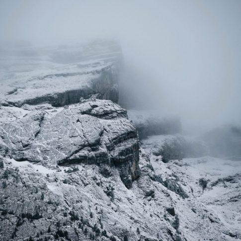montagnes enneigées à Morsullaz