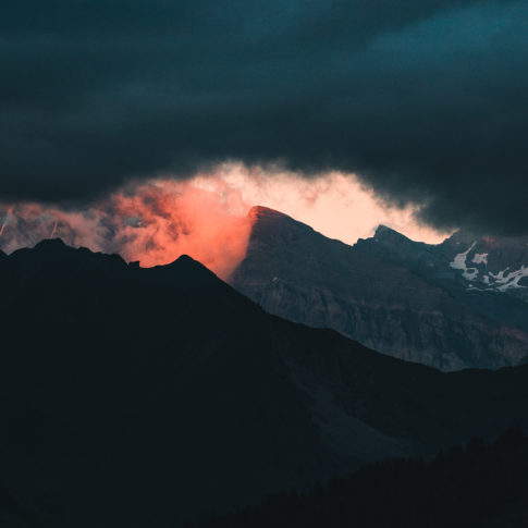 Coucher de soleil au Mont Joly