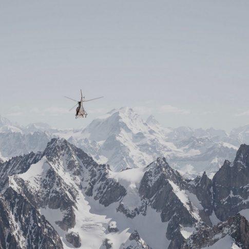 vallée blanche, Chamonix, hélicoptère